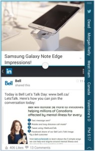 Samsung Galaxy Note Edge screen